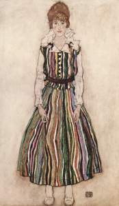"Egon Schiele ""Portrait of Edith Schiele"""