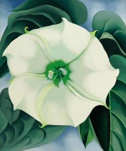 Jimson Weed/White Flower No. 1 by Georgia O'Keefe