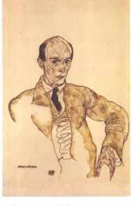 """Egon Schiele """"Portrait of Arnold Schonberg"""""""