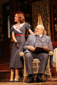 "Rose Byrne and James Earl Jones in ""You Can't Take It With You."""