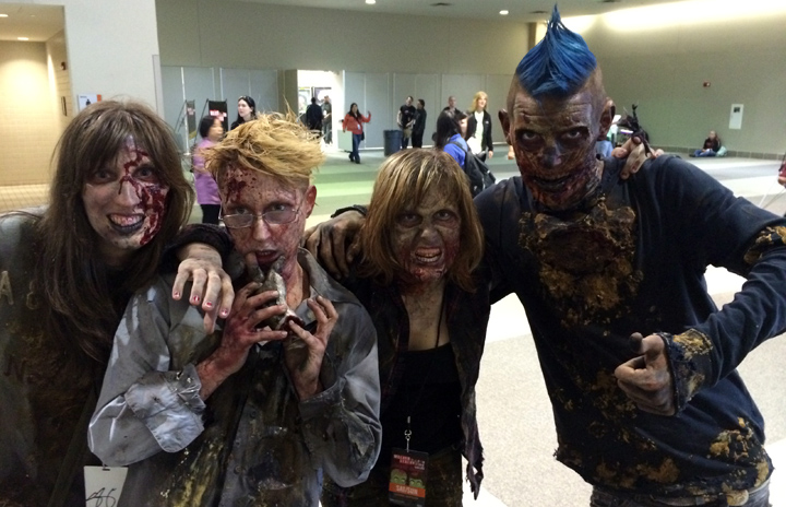 The winners of the Walker/Stalker Con cosplay contest.
