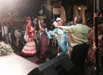 A late night flamenco party on the streets of Seville.