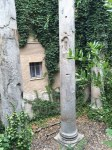 These Roman columns sit away from any fanfare in the garden of a house in Seville.