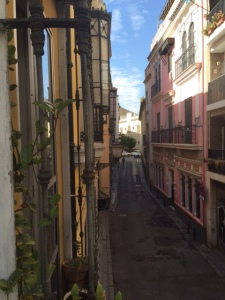 A view of one of the narrow streets of Seville
