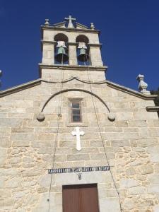The church of St. Adrian in Corme-Aldea.