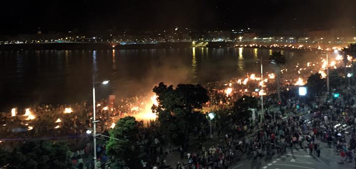 The Bonfires of San Xoån in A Coruña.