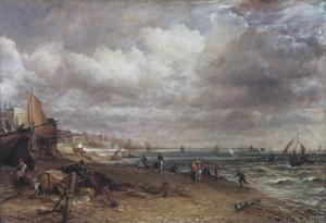 Chain Pier, Brighton 1826-7 by John Constable 1776-1837