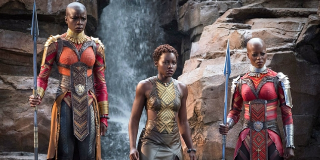 Okoye-Nakia-and-Ayo-in-Dora-Milaje-outfits-Black-Panther